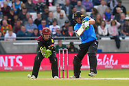Luke Wright of Sussex batting during the Vitality T20 Finals Day Semi Final 2018 match between Worcestershire Rapids and Lancashire Lightning at Edgbaston, Birmingham, United Kingdom on 15 September 2018.