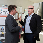 31.08. 2017.                                   <br /> Leaders in the pharmaceutical manufacturing sector in Ireland gathered at University of Limerick today for the third annual Pharmaceutical Manufacturing Technology Centre (PMTC) Knowledge Day.<br /> <br /> Pictured at the event were, Chris Edlin, PMTC Director and Fearghal Downey, Technical Director Europe, Hyde Engineering.<br /> <br /> The event provided a showcase for the cutting-edge research supported by the centre with key note addresses from industry thought leaders who shared their vision of the future for the pharmaceutical sector. Picture: Alan Place