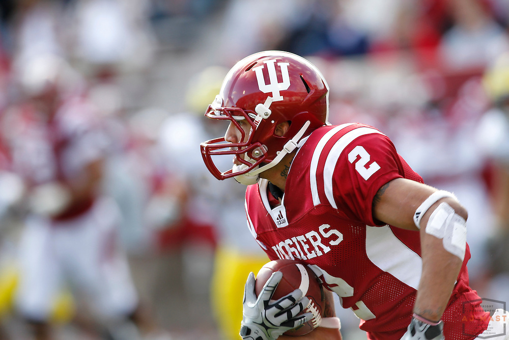02 October 2010: Indiana Hoosiers wide receiver Tandon Doss (2) as the Indiana Hoosiers played the Michigan Wolverines in a college football game in Bloomington, Ind.