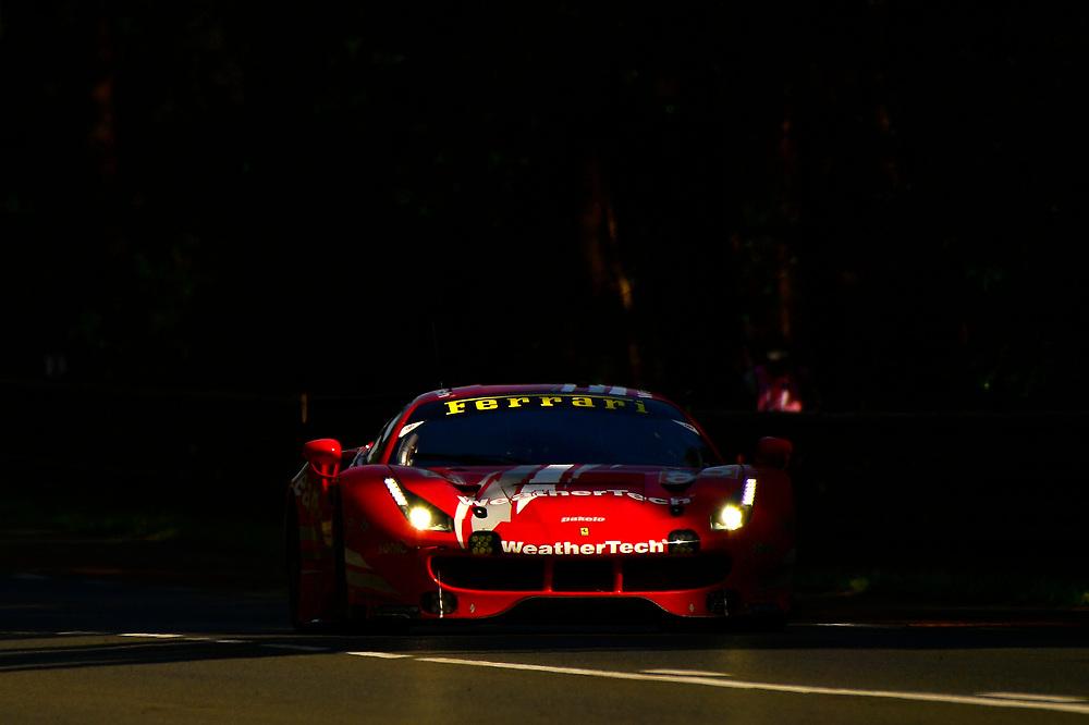 #85 Keating Motorsports Ferrari 488 GTE: Ben Keating, Jeroen Bleekemolen, Luca Stolz<br /> Wednesday 13 June 2018<br /> 24 Hours of Le Mans<br /> 2018 24 Hours of Le Mans<br /> Circuit de la Sarthe  FR<br /> World Copyright: Scott R LePage