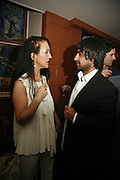 Liz Jones and  Nirpal Singh Dhaliwal, BOOK LAUNCH FOR TOURISM by Nirpal Singh Dhaliwal at the Union Club. GREEK ST.  ONE TIME USE ONLY - DO NOT ARCHIVE  © Copyright Photograph by Dafydd Jones 66 Stockwell Park Rd. London SW9 0DA Tel 020 7733 0108 www.dafjones.com