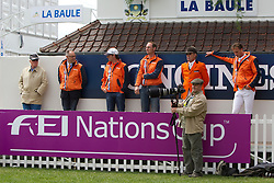 Team Netherlands : Voorn Albert and Vincent (NED), Ehrens Rob (NED), Mark Houtzager (NED)<br /> FEI Nations Cup La Baule 2012<br /> © Dirk Caremans