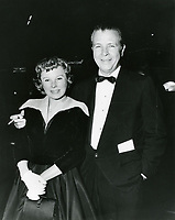 1959 June Allison and Dick Powell at a Grauman's Chinese Theater movie premiere