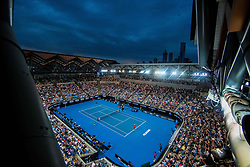 January 16, 2019 - Melbourne, VIC, U.S. - MELBOURNE, VIC - JANUARY 16: city landscape during day three match of the 2019 Australian Open on January 16, 2019 at Melbourne Park Tennis Centre Melbourne, Australia (Photo by Chaz Niell/Icon Sportswire) (Credit Image: © Chaz Niell/Icon SMI via ZUMA Press)