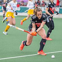 AMSTELVEEN -   Charlotte Adegeest (Adam)   tijdens  de hoofdklasse hockey competitiewedstrijd dames, Amsterdam-Den Bosch (0-1)  COPYRIGHT KOEN SUYK