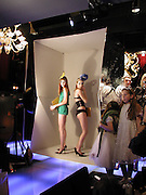 Lady Eloise Anson and Sophia Hesketh, Tanqueray Philip Treacy couture fashion show and after party,  Pink Paradise Club, Paris. 21 January 2003. © Copyright Photograph by Dafydd Jones 66 Stockwell Park Rd. London SW9 0DA Tel 020 7733 0108 www.dafjones.com