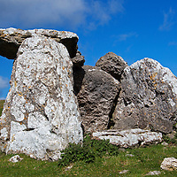 Europe, United Kingdom, Wales, Conwy. Llety'r Filiast Cromlech on the Great Orme (Pen Dinas).