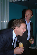 The Marquis of Milford Haven and David Flint Wood. Launch dinner for Island Beauty by India Hicks hosted by Charles Finch and Harvey Nichols Fifth Floor Restaurant. London. .  14  November 2005 . ONE TIME USE ONLY - DO NOT ARCHIVE © Copyright Photograph by Dafydd Jones 66 Stockwell Park Rd. London SW9 0DA Tel 020 7733 0108 www.dafjones.com