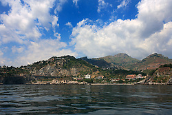 ITALY SICILY GIARDINI NAXOS 7MAY08 - Coastline near Taormina in eastern Sicily seen from  the Mediterranean Sea. Taormina has been a very popular tourist destination since the 19th century...jre/Photo by Jiri Rezac..© Jiri Rezac 2008..Contact: +44 (0) 7050 110 417.Mobile:  +44 (0) 7801 337 683.Office:  +44 (0) 20 8968 9635..Email:   jiri@jirirezac.com.Web:    www.jirirezac.com..© All images Jiri Rezac 2008 - All rights reserved.