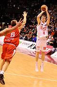 DESCRIZIONE : Milano Lega A 2012-13 EA7 Olimpia Armani Jeans Milano Cimberio Varese<br /> GIOCATORE : Nicolo' Melli<br /> SQUADRA : EA7 Olimpia Armani Jeans Milano<br /> EVENTO : Campionato Lega A 2012-2013<br /> GARA :  EA7 Olimpia Armani Jeans Milano Cimberio Varese<br /> DATA : 23/12/2012<br /> CATEGORIA : Tiro three Points<br /> SPORT : Pallacanestro<br /> AUTORE : Agenzia Ciamillo-Castoria/A.Giberti<br /> Galleria : Lega Basket A 2012-2013<br /> Fotonotizia : Milano Lega A 2012-13 EA7 Olimpia Armani Jeans Milano Cimberio Varese<br /> Predefinita :