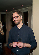 MARCUS COATES, Dinner hosted by Denise Estfandi, for the Council of the Serpentine Gallery to celebrate the opening of  Nancy Spero at the Serpentine Gallery. London.  Upper Brook house. 10a upper brook st.1 March 2011. -DO NOT ARCHIVE-© Copyright Photograph by Dafydd Jones. 248 Clapham Rd. London SW9 0PZ. Tel 0207 820 0771. www.dafjones.com.