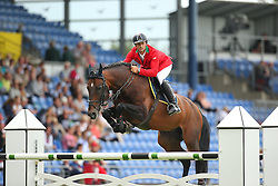 Da Rios Daniele Augusto, (ITA), For Passion<br /> Team Competition round 1 and Individual Competition round 1<br /> FEI European Championships - Aachen 2015<br /> © Hippo Foto - Stefan Lafrentz<br /> 19/08/15