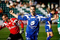 Mandalskameratene - FK Haugesund<br /> Mandal Idrettspark<br /> 22.08.07<br /> Adeccoligaen<br /> Fotograf - Petter Emil Wikøren/Digitalsport<br /> <br /> Cameron Weaver - FK Haugesund - jubler etter scoring mot Mandalskameratene