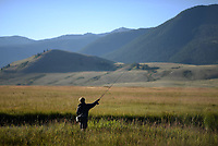 Opening day of fishing on Flat Creek on the National Elk Refuge