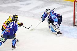 17.01.2012, Albert Schultz Halle, Wien, AUT, EBEL, UPC Vienna Capitals vs SAPA Fehervar AV19, im Bild Mario Seidl, (UPC Vienna Capitals, #82), Juray Durco, (SAPA Fehervar AV19, #44) und Bence Balizs, (SAPA Fehervar AV19, #39)  // during the icehockey match of EBEL between UPC Vienna Capitals (AUT) and SAPA Fehervar AV19 (HUN) at Albert Schultz Halle, Vienna, Austria on 17/01/2012,  EXPA Pictures © 2012, PhotoCredit: EXPA/ T. Haumer