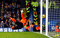 Fotball<br /> England<br /> Foto: Colorsport/Digitalsport<br /> NORWAY ONLY<br /> <br /> Peter Clarke of Southend United scores for southend . Chelsea  Vs Southend United F A CUP 3rd Round  at  Stamford Bridge Stadium. 03/01/2009.
