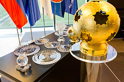 Trophies during NZS Draw for season 2019/20, on June 21, 2019 in Celje, Maribor, Slovenia. Photo by Ziga Zupan / Sportida
