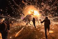 "Quema anual de toritos por la Feria Internacional de la Pirotecnia 2020  / Annual burning of ""Toritos"" as part of the Pyrotechnics International Fair 2020."