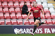 Manchester United midfielder Kirsty Hanson (18) during the FA Women's Super League match between Manchester United Women and Manchester City Women at Leigh Sports Village, Leigh, United Kingdom on 14 November 2020.