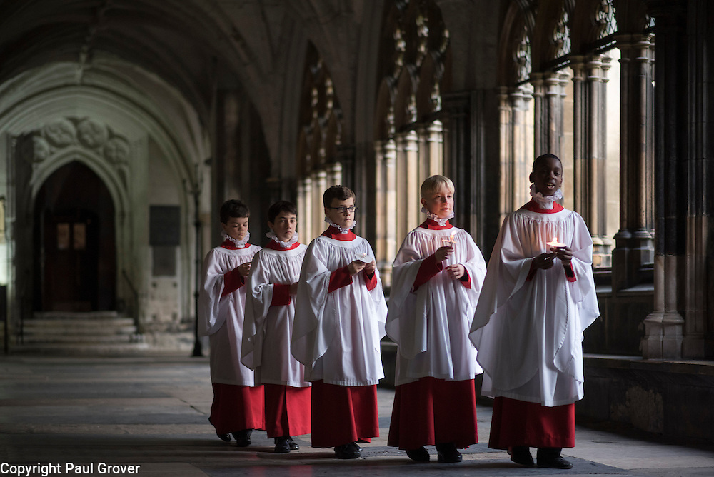 cc0067044.DT News.Westminster Abbey.Pic Shows Westminster Abbey Choir boys preparing for the Christmas services