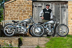 Dr. George Cohen (Norton George) with some of his Nortons at his home - workshop in Somerset, England. Monday September 12, 2011. Photography ©2011 Michael Lichter. (RIP George Cohen 5/27/16)