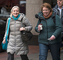 DATE CORRECTION TO 20/03/2018 © Licensed to London News Pictures. 20/03/2018. London, UK. Christine Shawcroft  and Rachel Garnham arrive at Labour Party headquarters in London to attend a National Executive Committee meeting, where a new general secretary of the Labour Party is expected to be appointed. Photo credit: Ben Cawthra/LNP