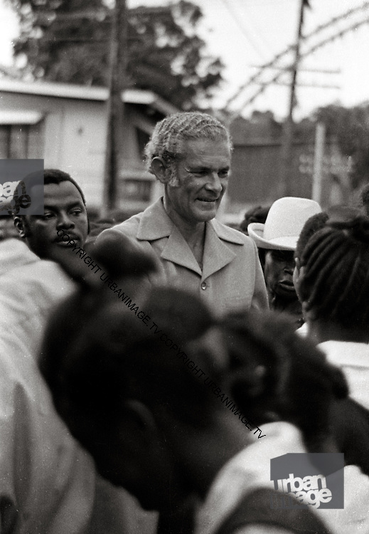 Manley during elections  - Kingston