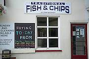 Traditional fish and chips, Leiston, Suffolk, England