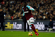 Arthur Masuaku of West Ham United in action. Premier league match, Tottenham Hotspur v West Ham United at Wembley Stadium in London on Thursday  4th January 2018.<br /> pic by Steffan Bowen, Andrew Orchard sports photography.
