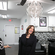 COLUMBIA SC - FEBRUARY 16: California Senator Kamala Harris makes a scheduled campaign stop at Lavish Salon & Extension to meet potential 2020 presidential primary voters in Columbia, SC on February 16, 2019. (Logan Cyrus for The Los Angeles Times)
