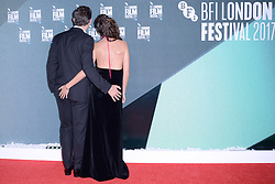 Berenice Bejo and Michel Hazanavicius leaving the Redoutable Premiere during the BFI London International Film Festival in London, England on October 07, 2017. Photo by Aurore Marechal/ABACAPRESS.COM  | 610274_009 Londres London Royaume Uni United Kingdom