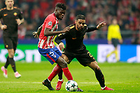 Atletico de Madrid's Thomas Partey (l) and AS Roma's Maxime Gonalons during Champions League 2017/2018, Group C, match 5. November 22,2017. (ALTERPHOTOS/Acero)