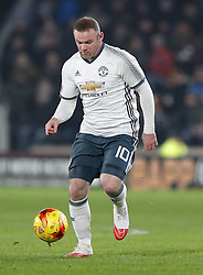 Manchester United's Wayne Rooney during the EFL Cup Semi Final, Second Leg match at the KCOM Stadium, Hull.