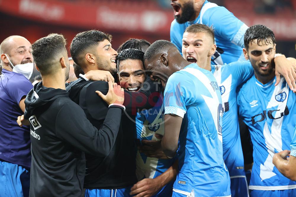 Radamel Falcao (Rayo Vallecano) scores (1-2)<br /> <br /> La Liga round 6 2021 septebmer 21th San Mames estadium<br /> Bibao Basque coutry Spain Bizkaia<br /> <br /> Atheltic Ckub de Bilbao Rayo Vallecano