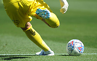 Wycombe Wanderers' Ryan Allsop takes a goalkick<br /> <br /> Photographer Kevin Barnes/CameraSport<br /> <br /> The EFL Sky Bet League One - Wycombe Wanderers v Blackpool - Saturday 4th August 2018 - Adams Park - Wycombe<br /> <br /> World Copyright © 2018 CameraSport. All rights reserved. 43 Linden Ave. Countesthorpe. Leicester. England. LE8 5PG - Tel: +44 (0) 116 277 4147 - admin@camerasport.com - www.camerasport.com