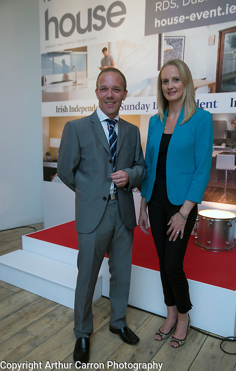 25/6/15 Stephen Murray, House and Angelina Ball Phoenix interior design, at the launch of House, Ireland's new interior design event (by INM) at The Choclate Factory in Dublin. Picture: Arthur Carron