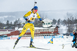 March 16, 2019 - –Stersund, Sweden - 190316 Martin Ponsiluoma of Sweden competes in the Men's 4x7,5 km Relay during the IBU World Championships Biathlon on March 16, 2019 in Östersund..Photo: Johan Axelsson / BILDBYRÃ…N / Cop 245 (Credit Image: © Johan Axelsson/Bildbyran via ZUMA Press)