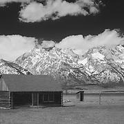 Mormon Row Cabin - Grand Tetons, WY - Infrared Black & White