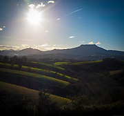 Farm fields and landscape in the Basque Country, France