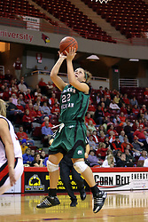 06 December 2008: Cassie Schrock pulls up for an open jump shot during a game between the Eastern Michigan Eagles and the Illinois State Redbirds on Doug Collins Court inside Redbird Arena on the campus of Illinois State University, Normal Il.