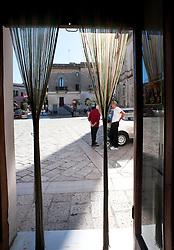 Alessano 17 ottobre 2012. .Macelleria del centro localizzata in Piazza Don Tonino Bello, Alessao (LE) Salento