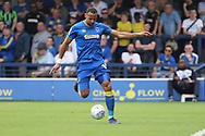 AFC Wimbledon midfielder Liam Trotter (14) passing the ball during the EFL Sky Bet League 1 match between AFC Wimbledon and Oldham Athletic at the Cherry Red Records Stadium, Kingston, England on 21 April 2018. Picture by Matthew Redman.