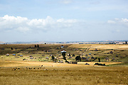 Landscape of rural Ethiopia with Straw huts in an Ethiopian village