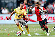 Feyenoord-player Tonny Vilhena (R) and Excelsior-player Anouar Hadouir (L) during the Dutch football Eredivisie match between Feyenoord and Excelsior at De Kuip Stadium in Rotterdam, on August 19th, 2018 - Photo Stanley Gontha / Pro Shots / ProSportsImages / DPPI