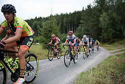 Clara Koppenburg approaches the end of the first gravel sector at the Crescent Vargarda - a 152 km road race, starting and finishing in Vargarda on August 13, 2017, in Vastra Gotaland, Sweden. (Photo by Sean Robinson/Velofocus.com)