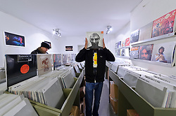 Reportage for The New York Times<br /> <br /> Cologne, Germany - The Groove Attack record store, specializes in obscure hip-hop and rap, and can be found in the basement at Maastrichter Strasse 49 in Cologne. (Photo © Jock Fistick)