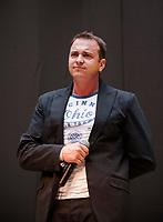 13.04.2013 Bialystok Koncert discopolowego zespolu Weekend w Galerii Handlowej Alfa n/z lider i zalozyciel grupy Radek Liszewski fot Michal Kosc / AGENCJA WSCHOD