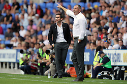 Derby County manager Frank Lampard (left) and Reading manager Paul Clement during the Sky Bet Championship match at the Madejski Stadium, Reading.