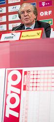 09.09.2013, Ernst Happel Stadion, Wien, AUT, Pressekonferenz anlaesslich des Neugestalteten Fussball TOTO Spiel, im Bild Lotterien Chef Friedrich Stickler , EXPA Pictures © 2013 PhotoCredit: EXPA/ Michael Gruber
