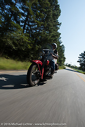 Kenney Sweeney on his 1934 Harley-Davidson VLD during Stage 3 of the Motorcycle Cannonball Cross-Country Endurance Run, which on this day ran from Columbus, GA to Chatanooga, TN., USA. Sunday, September 7, 2014.  Photography ©2014 Michael Lichter.
